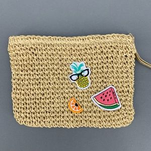 "Handbags - Paper Woven Summer Watermelon Clutch 8.5x6.5"" NEW"